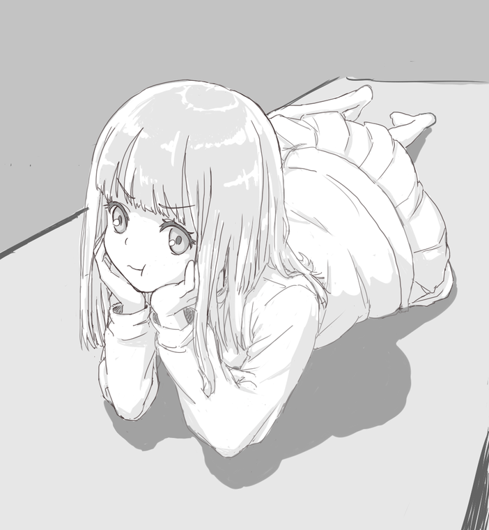 寝そべりぷっくり