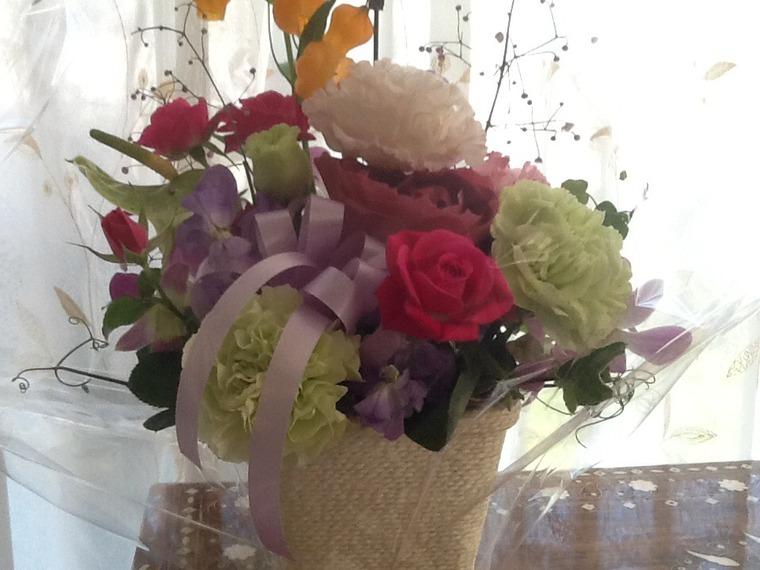 誕生日のお花を頂きました。
