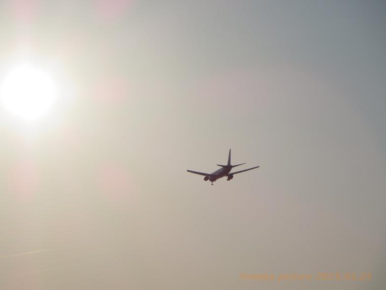 空へ!ANA庄内空港 三川上空
