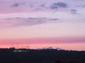 庄内平野の春の夕陽2016