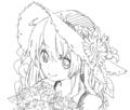花の似合う女の子