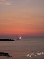 日本海庄内三瀬の夕日2012