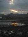 2013庄内の早春の夕陽