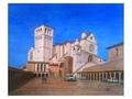 水彩画 (てんてん画) サンフランチェスコ教会