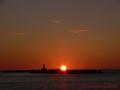 白山島の夕陽2014 初秋